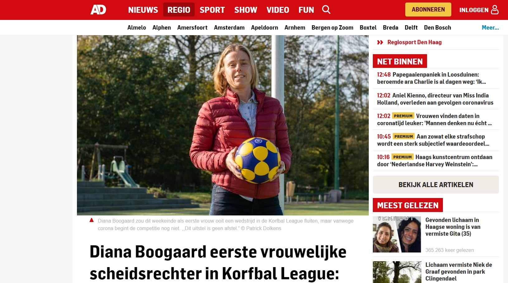 Korfbal (League) in de media