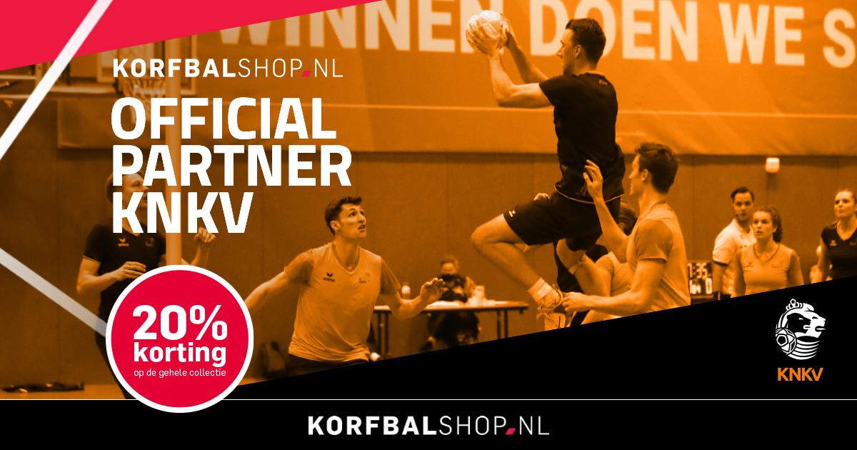 Korfbalshop.nl viert samenwerking met 20 procent korting
